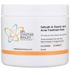 Acne Treatment Pads with salicylic acid and glycolic acid