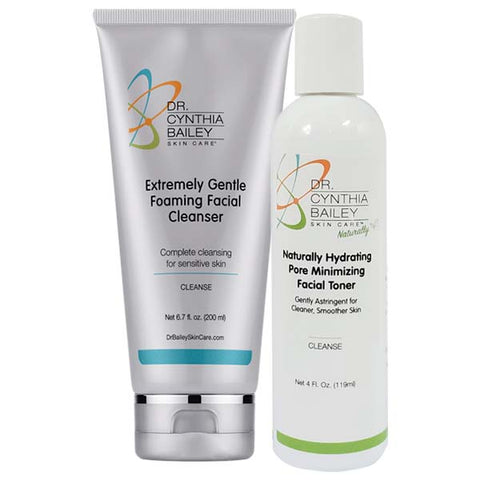 dermatologist nighttime skin care routine cleanser and toner