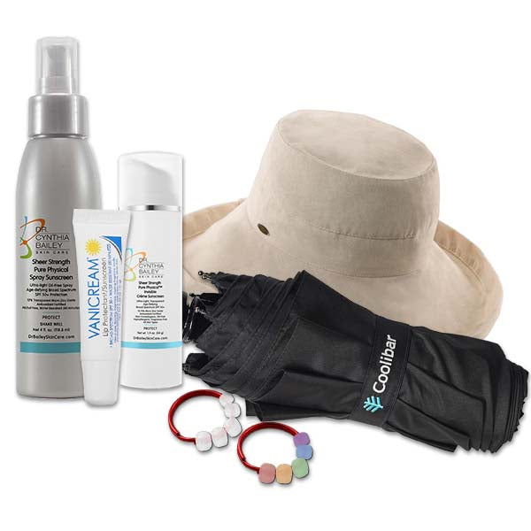 dermatologist-approved sunscreen and hats