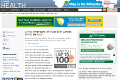 US News and World Report Skin Cancer Article