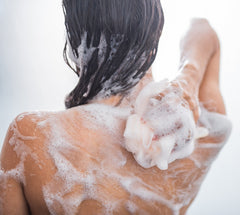 safer way to exfoliate body in shower instead of a loofah