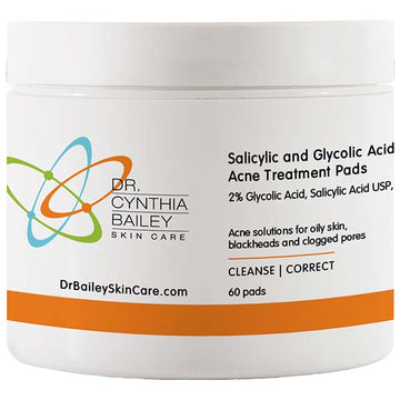 Salicylic and Glycolic Acid Acne Treatment Pads