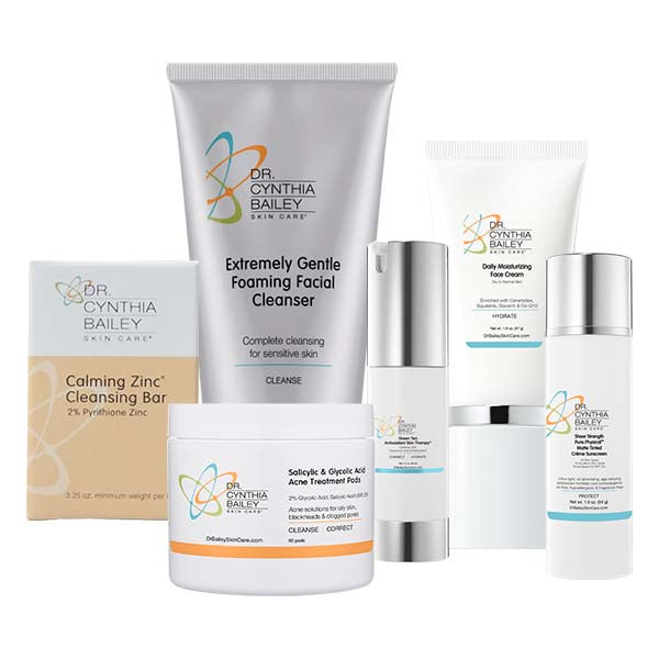 Maskne Treatment Skin Care Kit Dermatologist