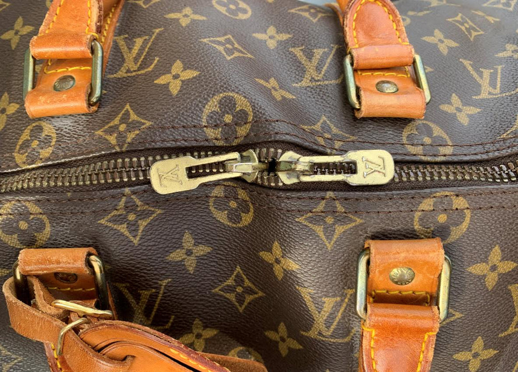 Authentic Louis Vuitton Keepall 45 Duffel Handbag Travel Purse - Luggage Tag