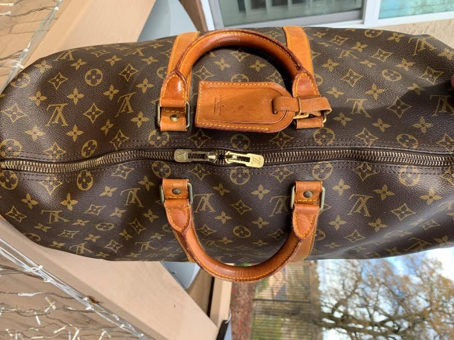 Authentic Louis Vuitton Brown Monogram Canvas Alma Handbag Tote Purse Vintage