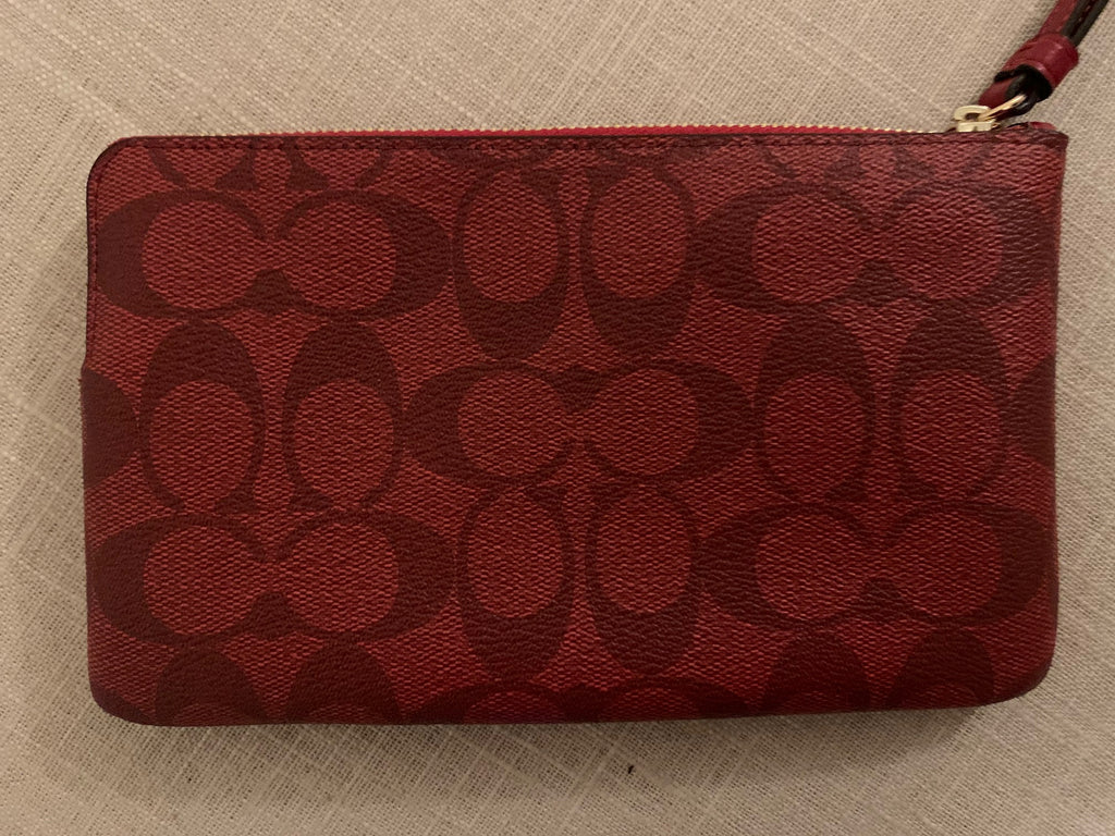 Coach Signature  Large Canvas Zipper Wallet