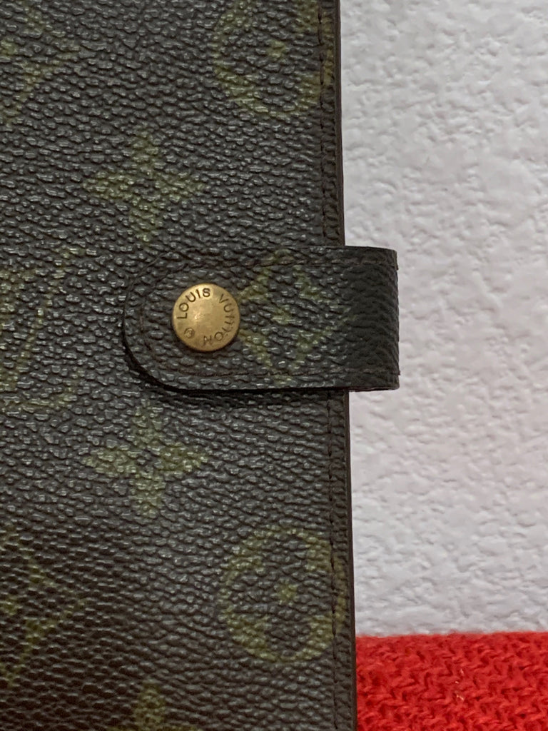 Louis Vuitton Brown Monogram Canvas Planner Agenda PM Case Binder Wallet