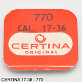 Certina 17-36, Mainspring, no: 770