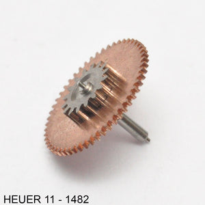 Heuer 11-1482, Driving gear for ratchet wheel