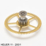 Heuer 11-200/1, Large driving wheel w cannon pinion
