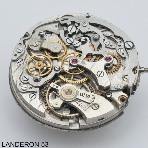 Landeron 53, Complete movement