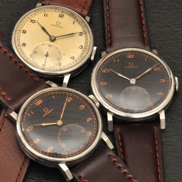 Omega CK 2099, a 1939 Collection of 3 pcs.