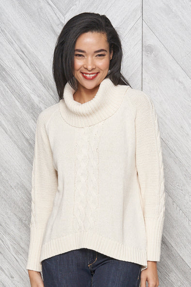 Parkhurst Bailey Cowl Neck Pullover - shop.mybijouboutique.com