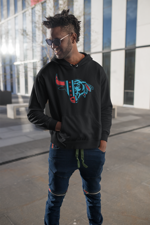 Black Chicago Champion Hoodie - Unisex