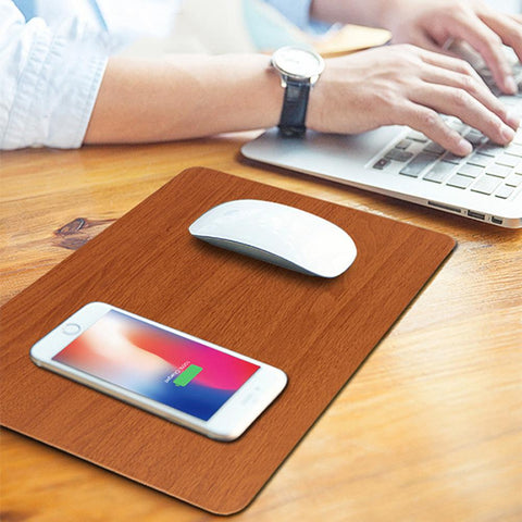 Dual-Use Office Desk Mobile Phone Wireless Charging Mouse Pad