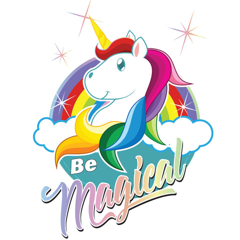 "Girls Youth Princess ""Be Magical"" Unicorn T-shirt - Panducorn.com"