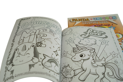 4 Bundle Magical Gift Set - Includes Hardback, coloring book, 2-in-1 pillow blanket, unicorn wrist plushie slap bracelet