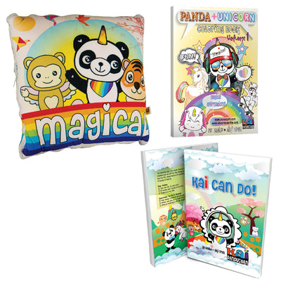 Magical 2-in-1 Pillow Blanket and Book Bundle 3 Piece Gift Set