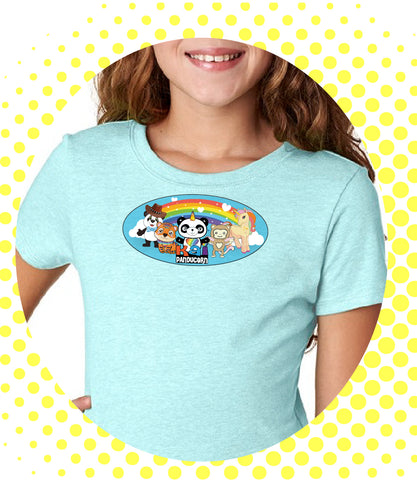 "Girls Youth Princess ""Panducorn Friends"" T-shirt - Panducorn.com"