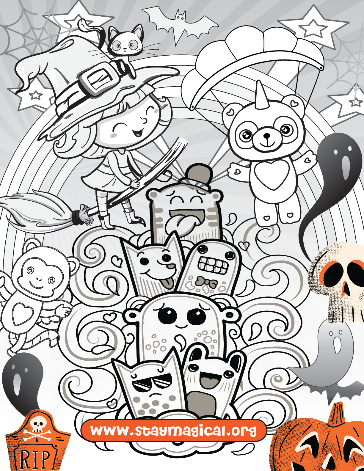 Panda & Unicorn 5 Pack Coloring Sheets FREE - Panducorn.com