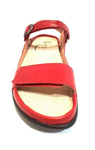 Naot Mozota Poppy Red Leather Ladies Sandals Made In Israel