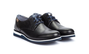 Pikolinos M0K-4204 Black Mens 3 Eyelet Lace Up Made In Spain