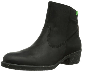 El Naturalista NC53 Black Zip Ankle Boot Made In Spain