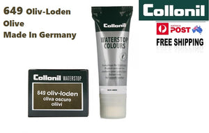 Shoe Care Products 649 Olive Cream Waterstop Collonil Sponge Applicator Tube 75ml