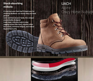 Redback UACH Alpine Crazy Horse Soft Toe 5 Eyelet Made In Australia