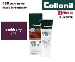Shoe Care Products Dark Berry 438 Cream Waterstop Collonil Sponge Applicator Tube 75ml