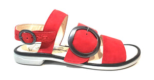 Fly London CODO006FLY Lipstick Red/Black Cupi/Mous Women's Flats Sandals Made In Portugal-