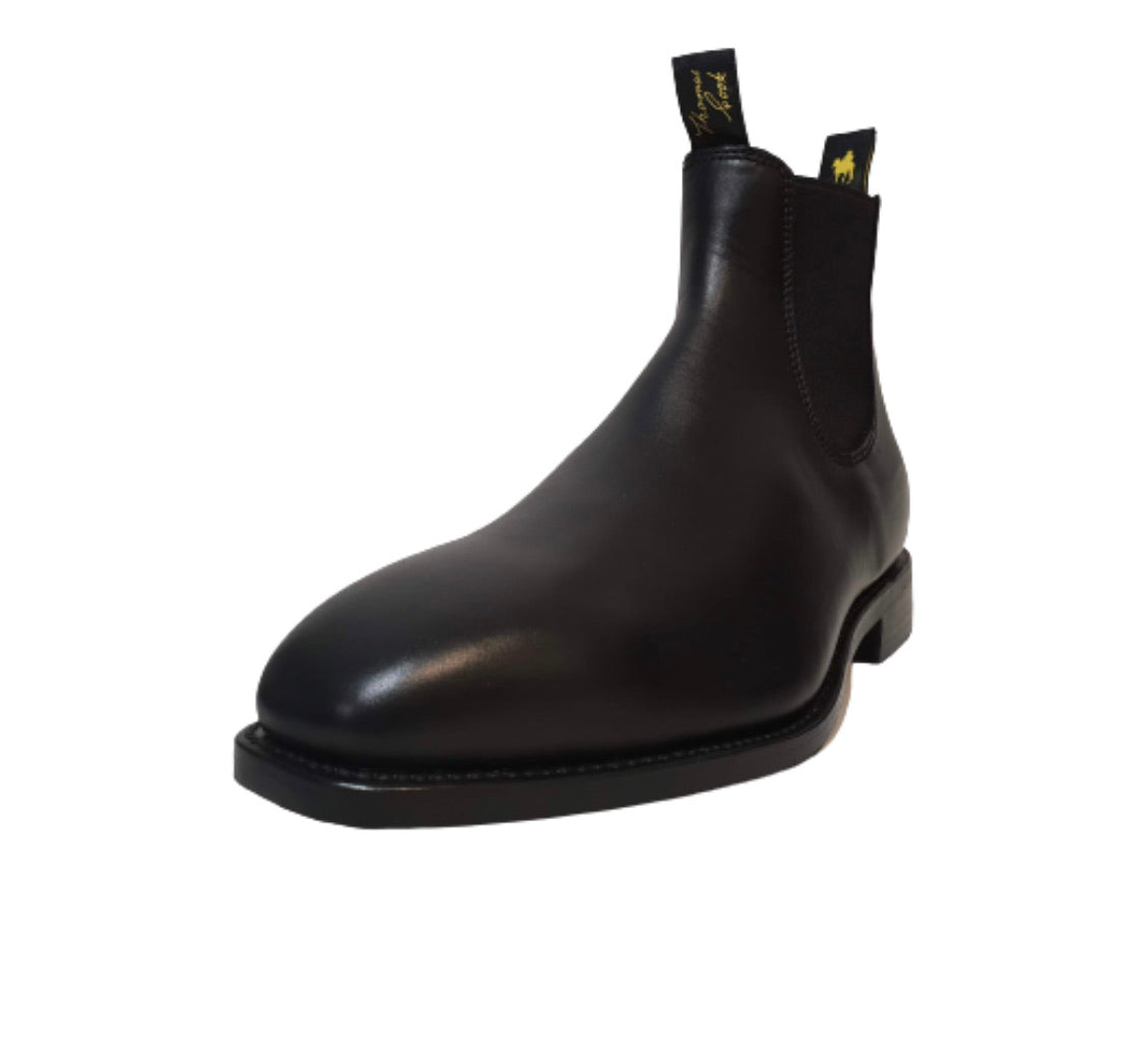Thomas Cook Trentham Black One Piece Rubber Sole Chelsea Dress Boot