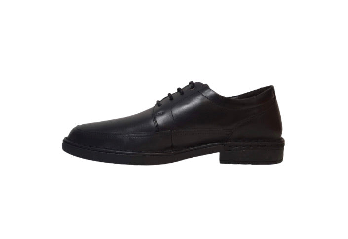 Pikolinos M0M-4255 Black Leather Mens 4 Eyelet Padded Collar Shoe Made In Spain