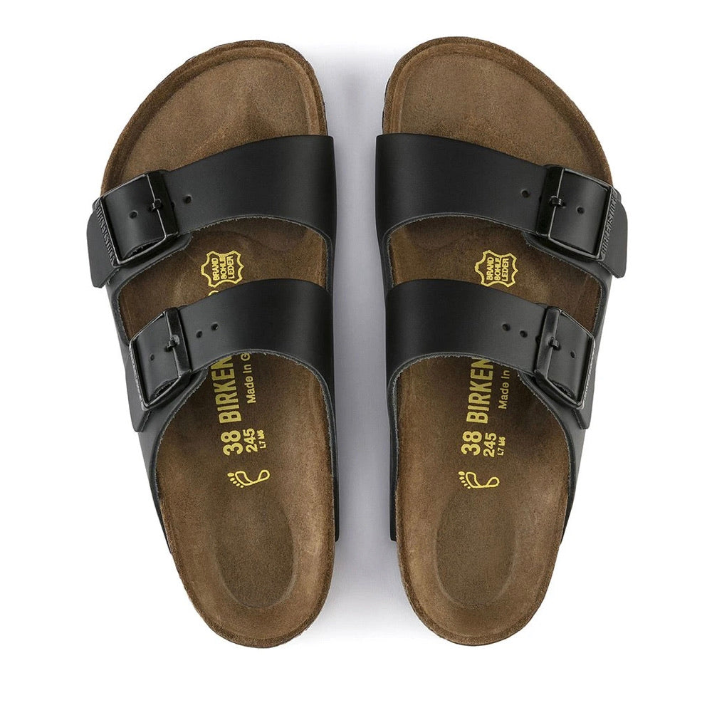 Birkenstock Arizona Black Smooth Leather Made In Germany