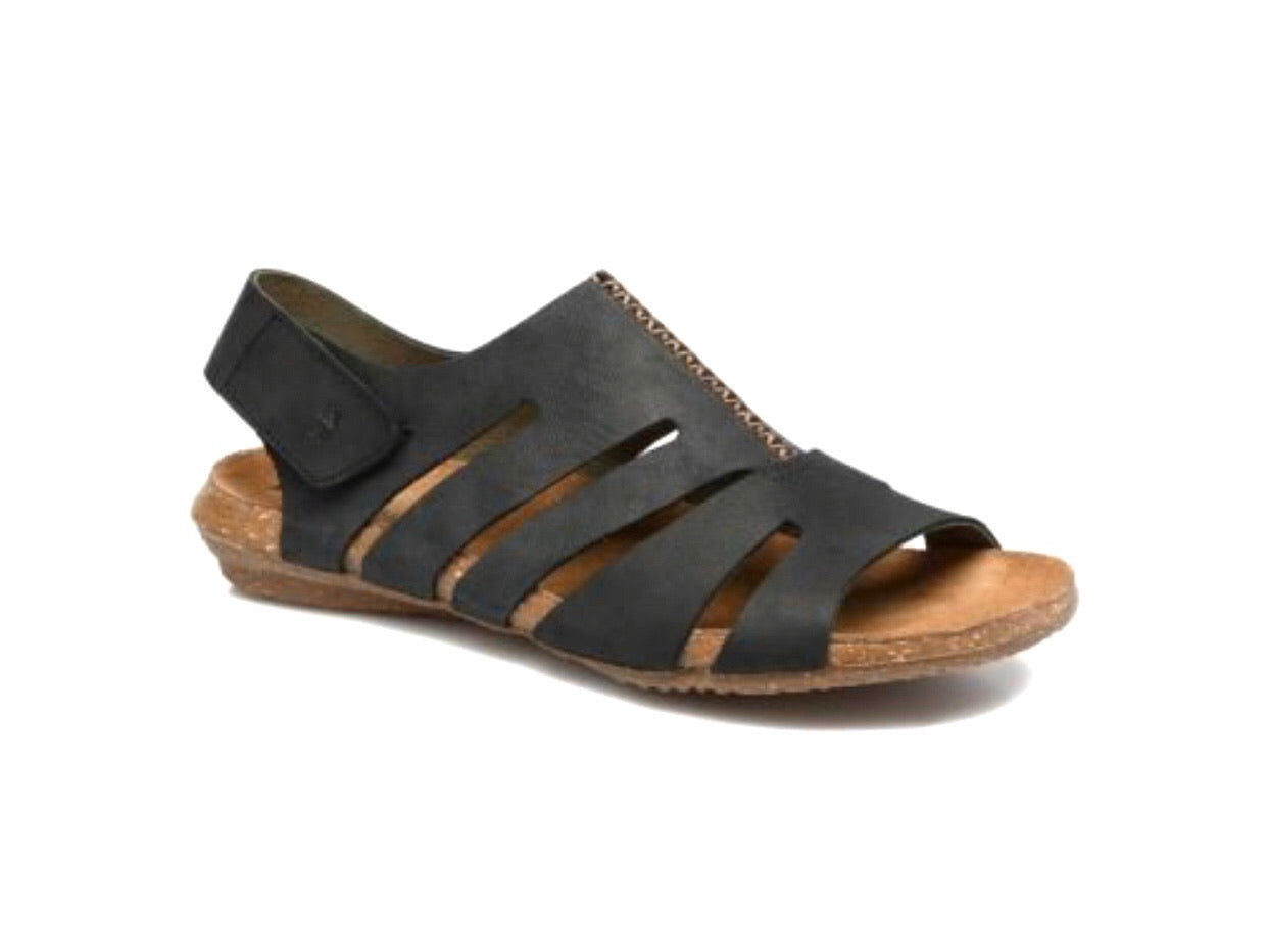 El Naturalista 5065 Black Pleasant Wakataua Sandal Made In Spain