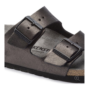 Birkenstock Arizona Washed Metallic Antique Black Made In Germany