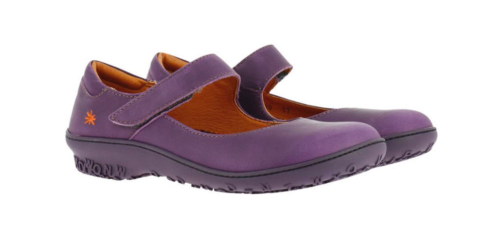 Art Ladies Shoes Purple 1420 Mary Jane Made In Spain