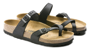 Birkenstock Mayari Black Oiled Leather Made In Germany