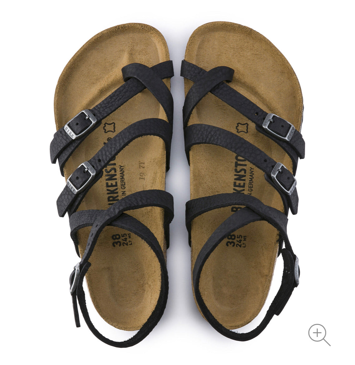 Birkenstock Seres Camberra Old Black Leather Made In Germany
