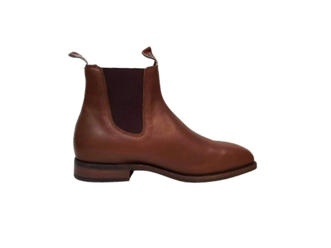 Thomas Cook Trentham Light Tan One Piece Rubber Sole Chelsea Dress Boot