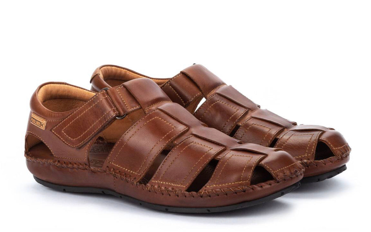 Pikolinos 06J-5433 Cuero Leather Sandals Mens Velcro Made In Spain