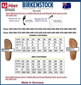 Birkenstock Arizona White Natural Leather Made In Germany