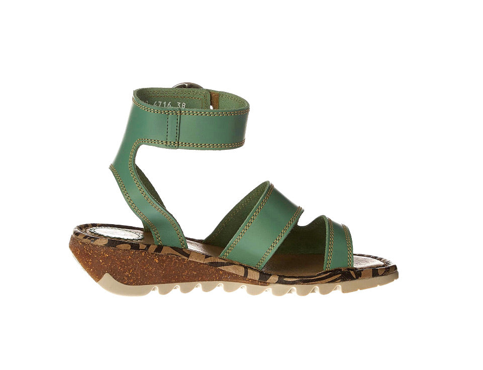 Fly London Tily722Fly Mynt Green Women's Wedges Sandals Made In Portugal