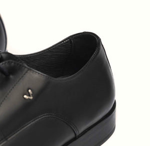 Martinelli 1492-2630PYM Black Empire Leather 4 Eyelet Shoe Made In Spain
