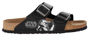 Birkenstock Arizona Black Star Wars Fighter Birko-Flor Made In Germany