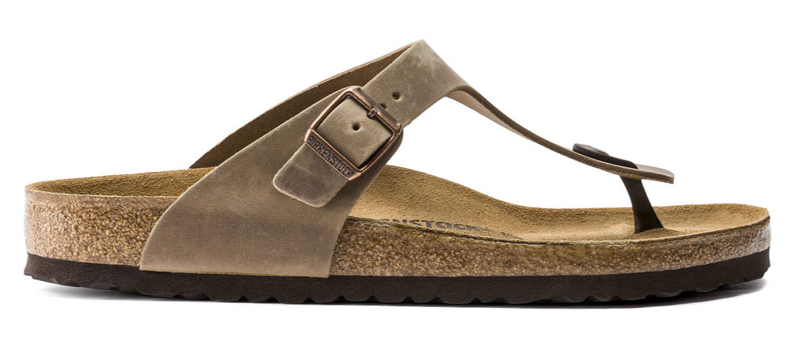 Birkenstock Gizeh Tabacco Brown Oiled Leather Made In Germany