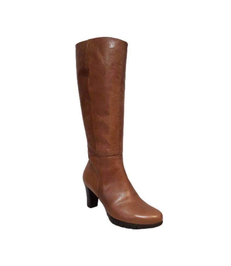 Wonders I-6017 Camel Light Tan Knee High Zip Made In Spain