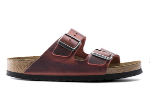 Birkenstock Arizona Earth Red Oiled Leather Soft Footbed Made In Germany