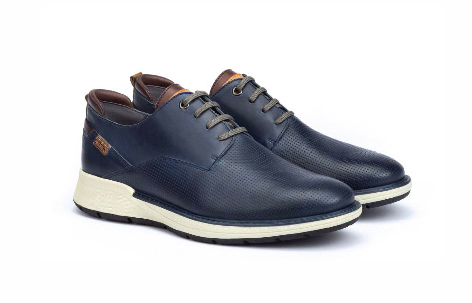 Pikolinos Busot M7S-4388 Blue 4 Eyelet Mens Shoe Made In Spain
