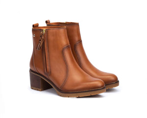 Pikolinos Llanes W7H-8632 Brandy Zip Ankle Boots Made In Spain